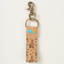 Eiffel Tower Butterflies Parisian,Romantic Pattern Keychain