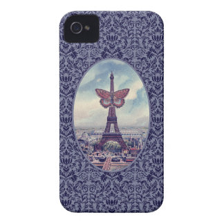 Eiffel Tower Butterfly Vintage Collage iPhone case Case-Mate iPhone 4 Case