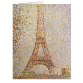 Eiffel Tower by Georges Seurat Card