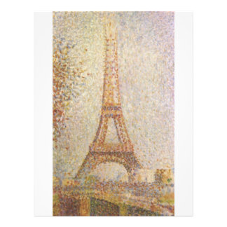 Eiffel Tower by Georges Seurat Flyer