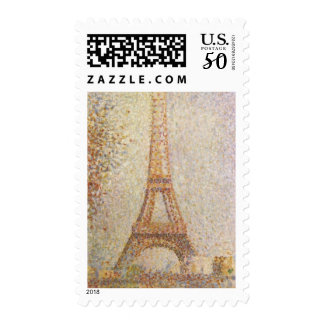 Eiffel Tower by Georges Seurat Postage