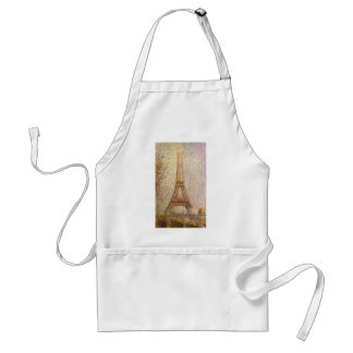 Eiffel Tower by Georges Seurat, Vintage Fine Art Adult Apron