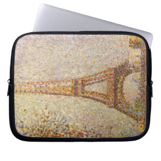 Eiffel Tower by Georges Seurat, Vintage Fine Art Computer Sleeve