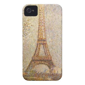 Eiffel Tower by Georges Seurat, Vintage Fine Art iPhone 4 Case