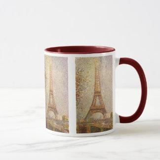 Eiffel Tower by Georges Seurat, Vintage Fine Art Mug