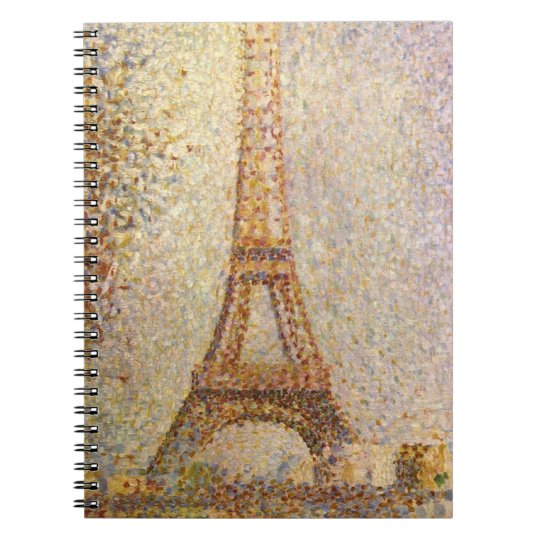 Eiffel Tower by Georges Seurat, Vintage Fine Art Notebook