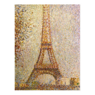 Eiffel Tower by Georges Seurat, Vintage Fine Art Postcard