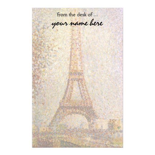Eiffel Tower by Georges Seurat, Vintage Fine Art Stationery