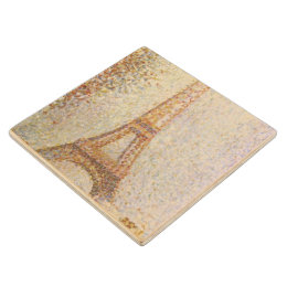 Eiffel Tower by Georges Seurat Wooden Coaster