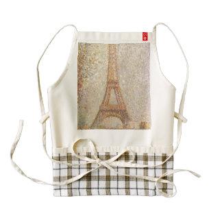 Eiffel Tower by Georges Seurat Zazzle HEART Apron