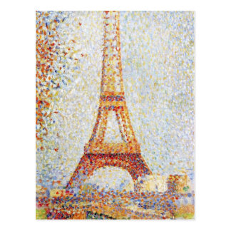 Eiffel Tower by Seurat Fine Art Postcard