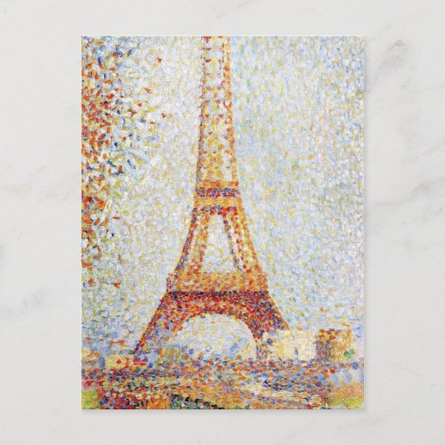 Eiffel Tower by Seurat Postcard