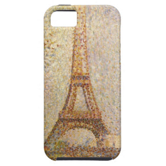 Eiffel Tower by Seurat, Vintage Pointillism Art iPhone 5 Covers