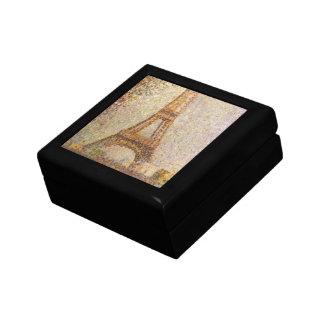 Eiffel Tower by Seurat, Vintage Pointillism Art Gift Box