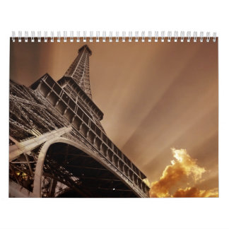 Eiffel tower calendar