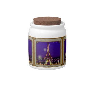 Eiffel Tower Candy Jar