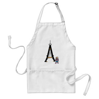Eiffel Tower Cartoon Adult Apron