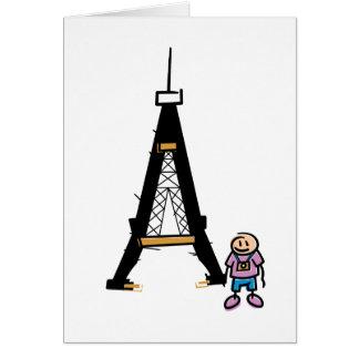 Eiffel Tower Cartoon Card