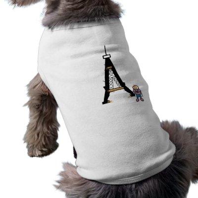 Eiffel Tower Cartoon Dog T Shirt by alternateworlds