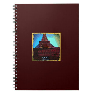 Eiffel Tower Cartoon Notebook