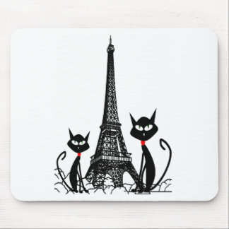 eiffel tower cats mousepad