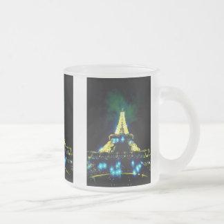Eiffel Tower CB 10 Oz Frosted Glass Coffee Mug