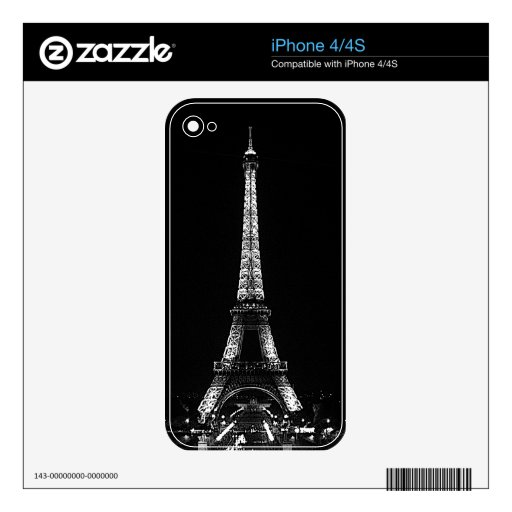 Eiffel Tower Cell Phone Skin Decals For The iPhone 4