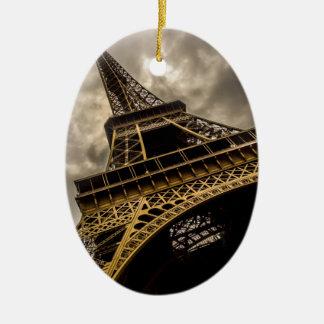 Eiffel Tower Ceramic Ornament