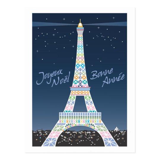 Eiffel Tower Christmas post card