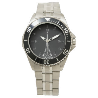 Eiffel Tower Classic Stainless Steel Watch