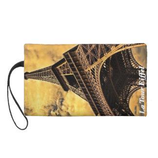 Eiffel Tower Clutch Baguette Wristlet