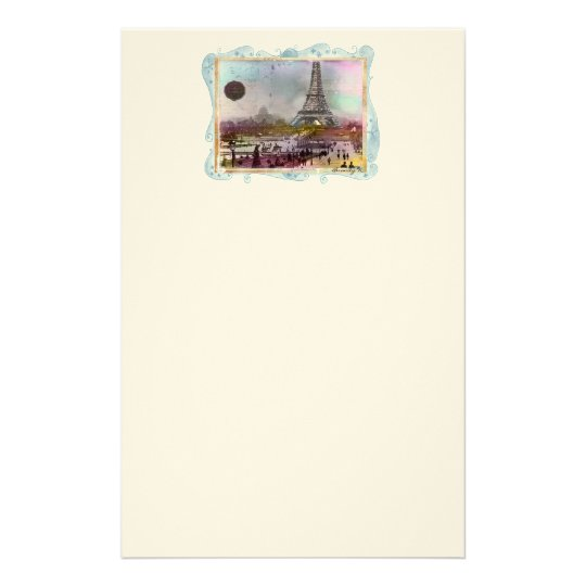 Eiffel Tower Collage Art Personal Stationery