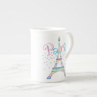 Eiffel Tower Confetti Bone China Mug
