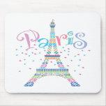 Eiffel Tower Confetti Mousepad