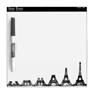 Eiffel Tower Construction Dry-Erase Board