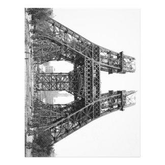 Eiffel Tower Construction Letterhead Template