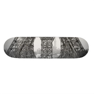 Eiffel Tower Construction Custom Skateboard