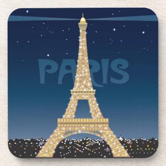 Eiffel Tower cork coaster set