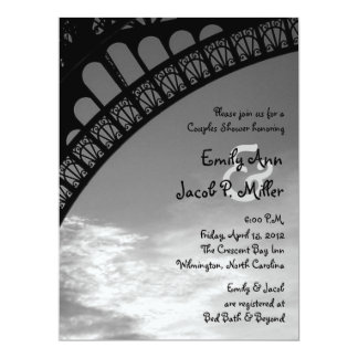 Eiffel Tower Couples Shower Invitations