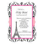 Eiffel Tower Damask Paris Bridal Shower Invitation
