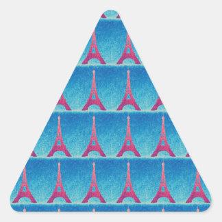 Eiffel Tower Dark Blue Triangle Sticker