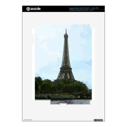 Eiffel Tower Decal For iPad 3