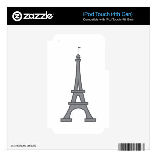 Eiffel Tower Decal For iPod Touch 4G