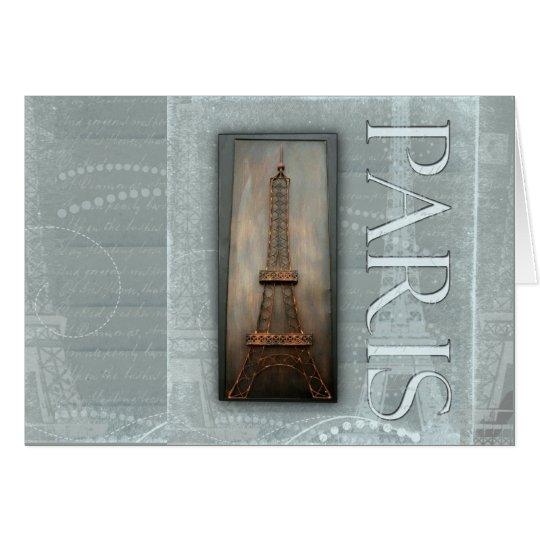Eiffel Tower Design Card