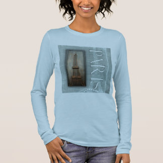 Eiffel Tower Design Long Sleeve T-Shirt