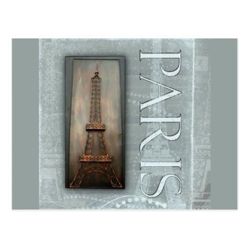 Eiffel Tower Design Postcard