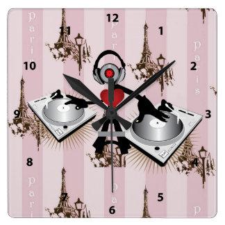 Eiffel Tower DJ Clock