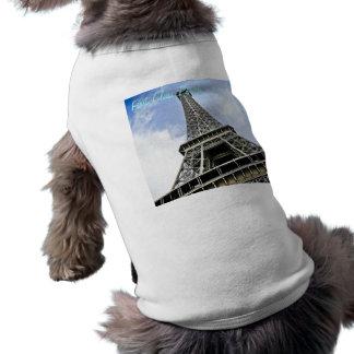 """Eiffel Tower Dog Shirt - """"First Class Pooch"""""""