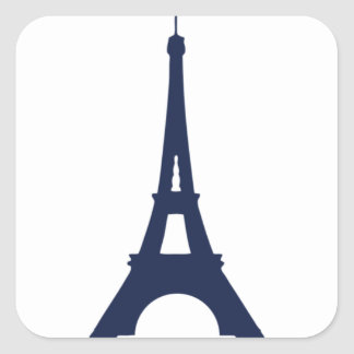eiffel tower drawing square sticker