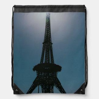 Eiffel tower, Dubai Miracle Garden Drawstring Backpack